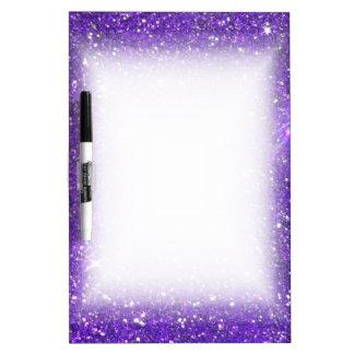 Trendy Purple Sparkling Glitter Glitz Dry Erase Board