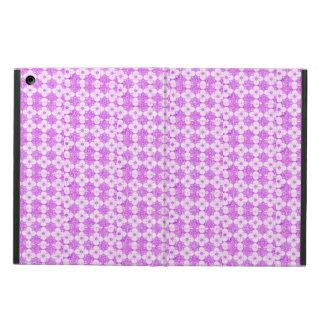 Trendy Purple white flowers iPad Case