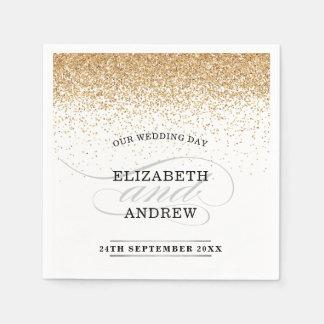 TRENDY RECEPTION chic minimalist faux gold glitter Paper Napkin