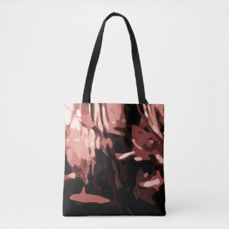 Trendy Red Camo Abstract Pattern Tote Bag