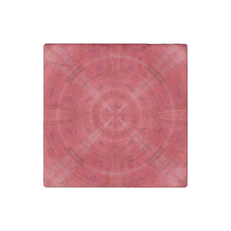 Trendy Red Circle Pattern Stone Magnet