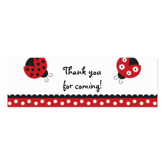 Trendy Red Ladybug Favor Gift Tags Pack Of Skinny Business Cards