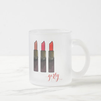 Trendy Red Lipstick Trio Girly Mug