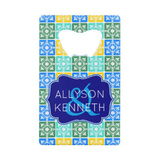 Trendy Resort Fashion Mediterranean Tiles Monogram