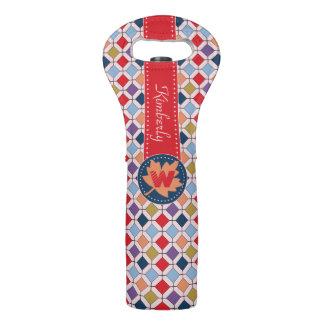 Trendy Retro Autumn Fall Fashion Pattern Monogram Wine Bag