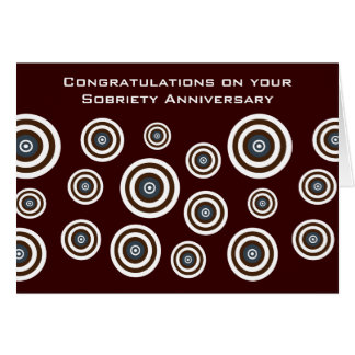 Trendy Retro Targets Sobriety Greeting Card