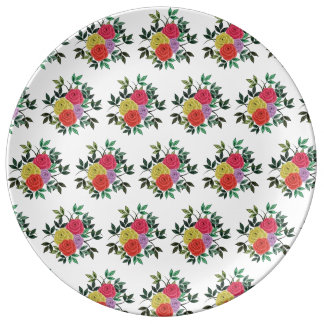 Trendy roses 27.3 cm Decorative Porcelain Plate