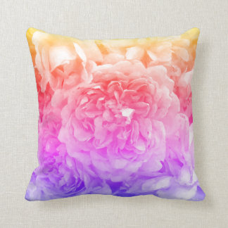 Trendy Roses, Yellow, Pink, Purple Cushion