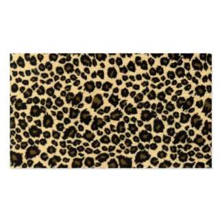 Trendy Safari Leopard Print Pack Of Standard Business Cards
