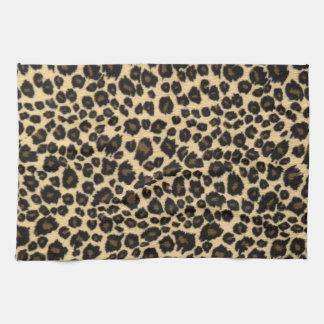 Trendy Safari Leopard Print Tea Towel