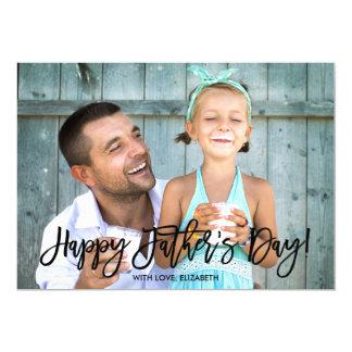 Trendy Script   Father's Day Photo 13 Cm X 18 Cm Invitation Card