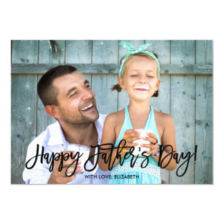 Trendy Script | Father's Day Photo Card