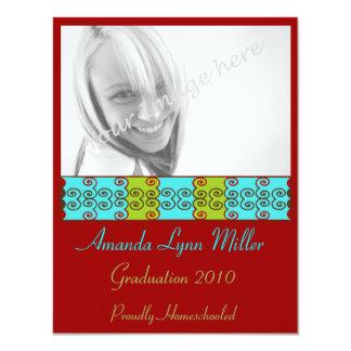 Trendy Scrolls Graduation Invite