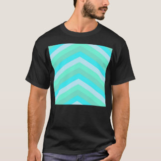 Trendy Shades Of Turquoise Teal Chevron Pattern T-Shirt