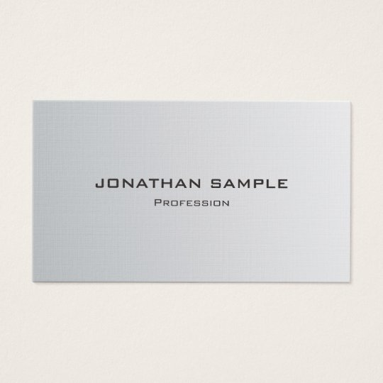 Trendy Silver Look Minimalistic Chic Plain Luxury Business Card