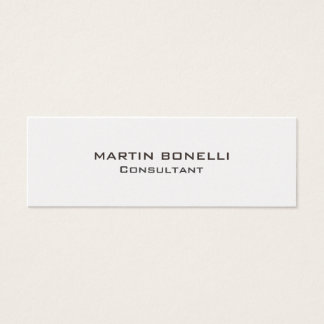 Trendy Skinny Clear Consultant Business Card