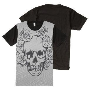 trendy Skull All-Over Print T-Shirt