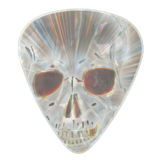 Trendy Skull Gothic Pearl Celluloid Guitar Pick