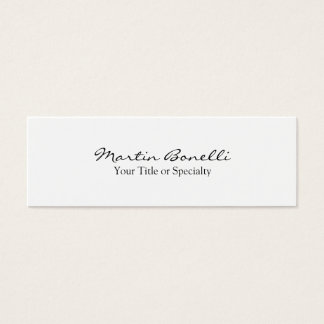 Trendy Slim Special Unique Modern Mini Business Card