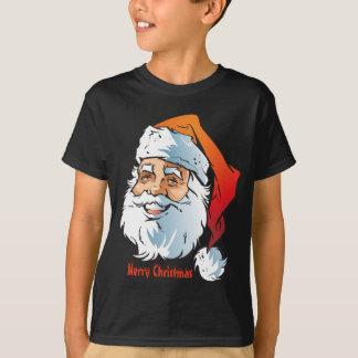 Trendy Smiling Santa Merry Christmas T-Shirt