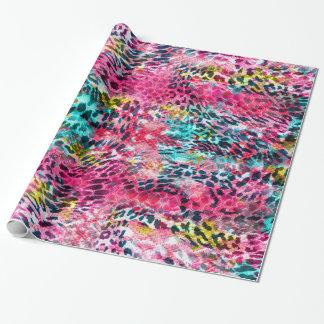 trendy snake skin leopard animal print blend neon