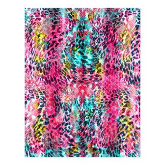 trendy snake skin leopard animal print blend neon 21.5 cm x 28 cm flyer