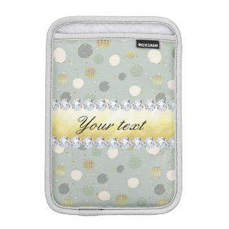 Trendy Snow Polka Dots Stars Diamonds iPad Mini Sleeve