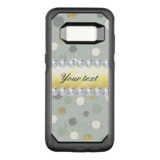 Trendy Snow Polka Dots Stars Diamonds OtterBox Commuter Samsung Galaxy S8 Case