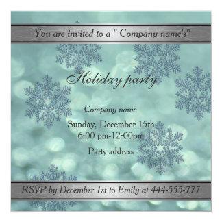Trendy Snowflake bokeh company holiday party 13 Cm X 13 Cm Square Invitation Card