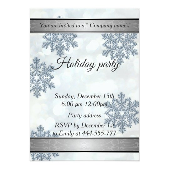 Trendy Snowflake bokeh company holiday party Card