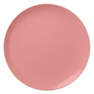 Trendy Solid Coral Color | Melamine Plate