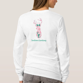 Trendy Southern Creatives Logo in Pink Damask T-Shirt