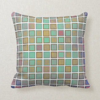 Trendy square pattern. Colorful Pillows