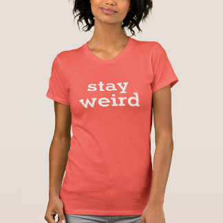 Trendy stay weird top in coral pink color
