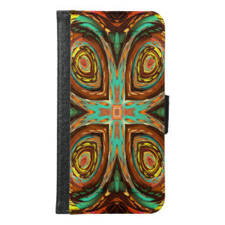Trendy strange cool pattern samsung galaxy s6 wallet case
