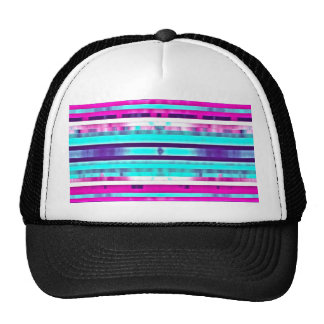 Trendy Stripes Abstract Multicolor Girly Pattern Cap
