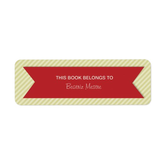 Trendy Stripes Bookplates Labels