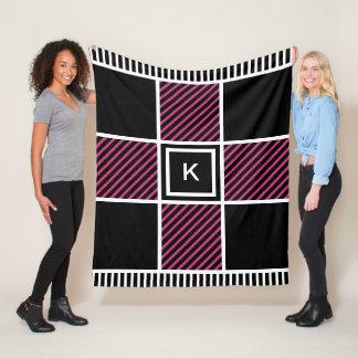 Trendy Stripes Fleece Blanket