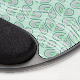 Trendy Stripes Hearts Pattern {Green} Gel Mousepad