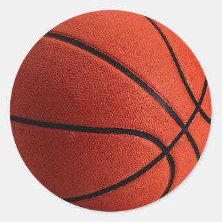 Trendy Style Basketball Round Sticker