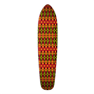 Trendy stylish abstract pattern skate deck