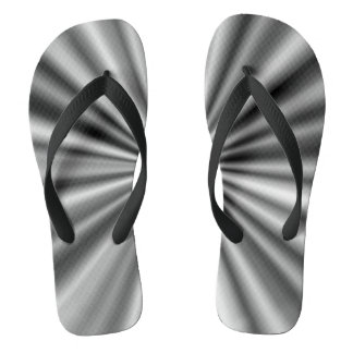 Trendy Stylish Black and White Pattern Thongs