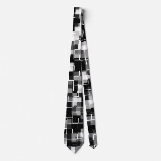 Trendy Stylish Black Grey White Pattern Tie