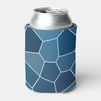 Trendy Stylish Blue Pattern Can Cooler