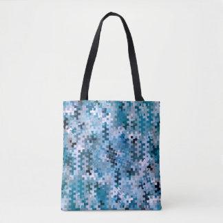 Trendy Stylish Blue Pattern Tote Bag
