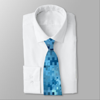 Trendy Stylish Cool Blue Pattern Tie