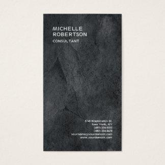 Trendy Stylish Grey Texture Minimalist Modern Business Card