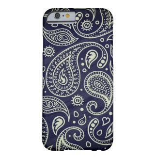Trendy Stylish Indigo Blue Boho Paisley Pattern Barely There iPhone 6 Case