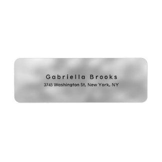 Trendy Stylish Modern Plain Elegant Unique Grey Return Address Label