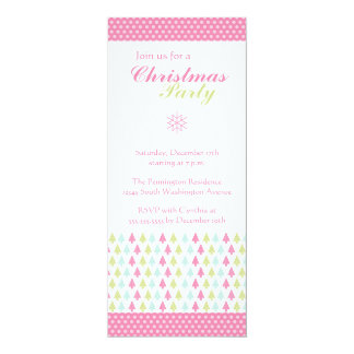Trendy stylish pink Christmas trees party invite